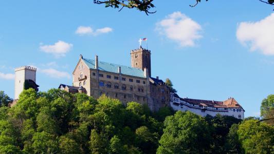 德国瓦尔特堡建筑景观