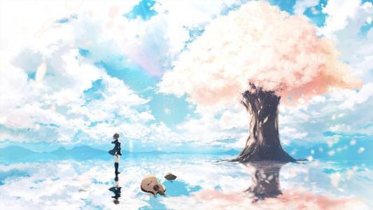 二次元唯美意境动漫风景