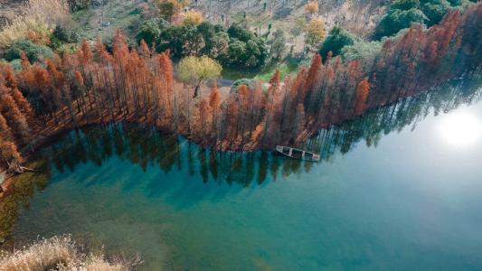 俯瞰常熟尚湖美景