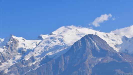 壮观秀丽的雪山自然风景