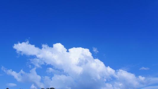 美丽的蓝天白云风光