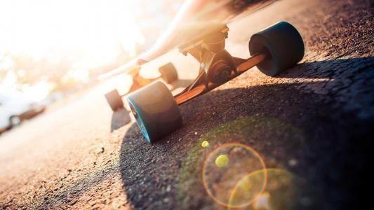 微距酷炫滑板运动