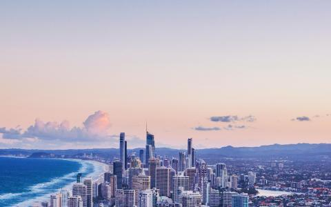 优美迷人的繁华都市建筑风光